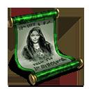 Rohesia scroll green
