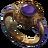 Ring purple lion