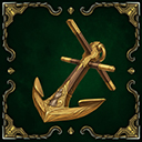 Relic anchor of the grimval