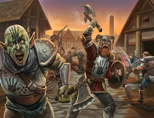 Black hand pillagers raid