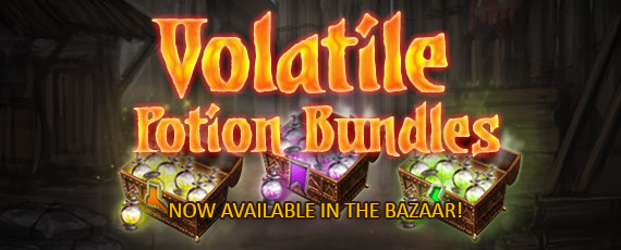 Scroller volatile potion bundles