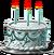 Anniversary cake blue
