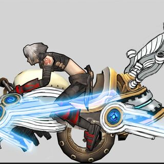 Concept art of a Steam Bike.