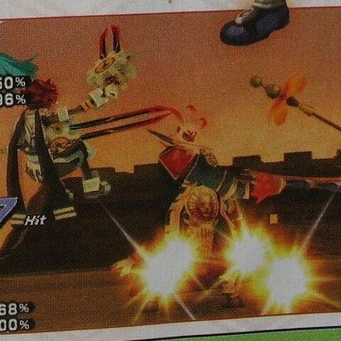Gabi fights Tokio and Atoli as a Boss.