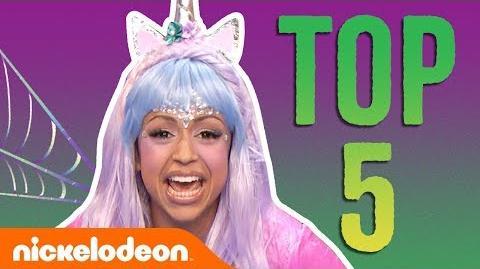 Liza Koshy's Top 5 Double Dare Halloween Moments 🎃 FunniestFridayEver