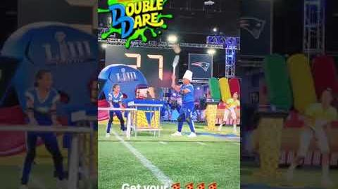 """Double Dare - """"Double Dare at Super Bowl"""" Russell Wilson BTS (3 6)"""