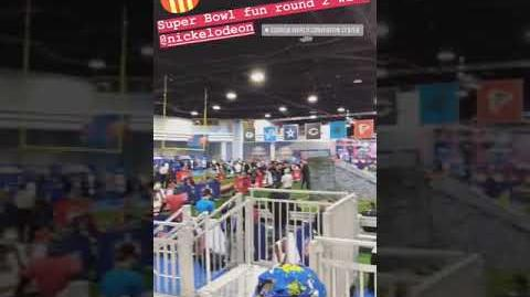 """Double Dare - """"Double Dare at Super Bowl"""" Behind the Scenes audience 3"""