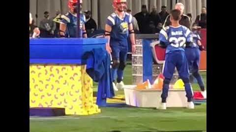 """Double Dare - """"Double Dare at Super Bowl"""" Balloon Head Pop challenge"""