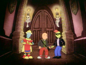 Doug, Skeeter, and Roger enter Bloodstone Manor