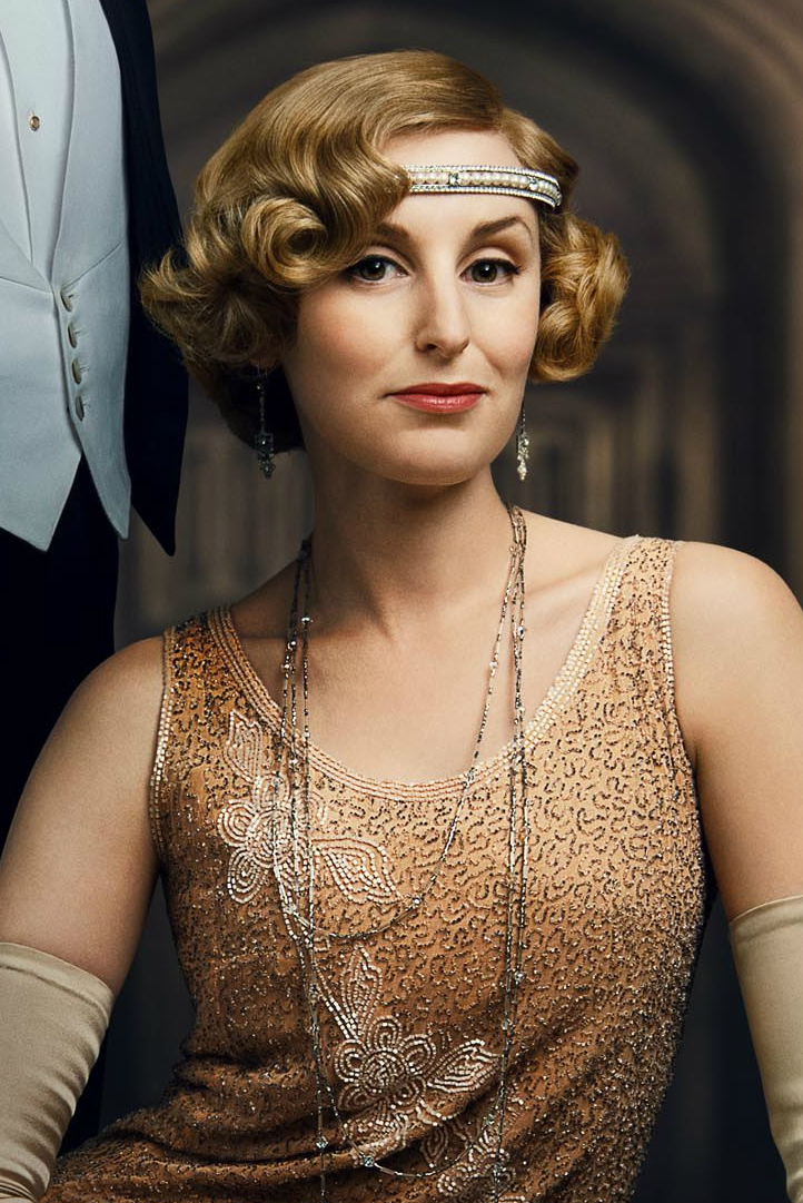 Work that head-scarf, Edith! Work it! | Downton abbey ... |Edith Downton Abbey Hair
