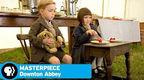MASTERPIECE Downton Abbey 5 Children on the Set PBS