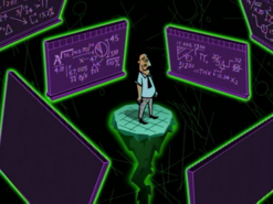 S01e13 Lancer surrounded by chalkboards
