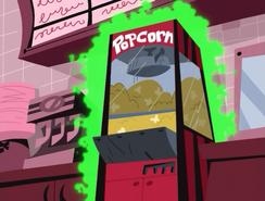 S01e14 popcorn machine glowing