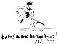 Danny phantom early sketch