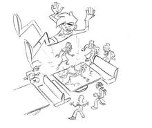 S02M02 PA Danny crashing into table