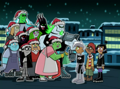 S02e10 ghosts wearing Santa hats