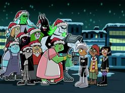 S02e10 ghosts wearing Santa hats