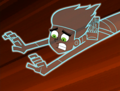 S01e09 invisible Danny racing to reach Jazz