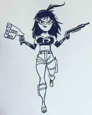 Sam Manson 10 years later Tomb Raider style