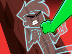 S01e09 claw in front of intangible Danny