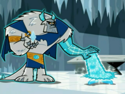 S03e06 forming ice statue