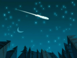 S03e10 meteor in night sky