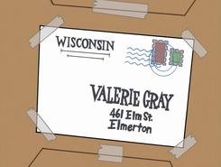 S01e10 Valerie's new address