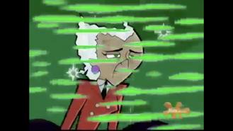 S01e09 peeling Spectra white hair