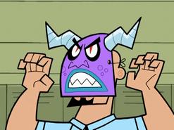S01e19 Mr. Lancer mask close up