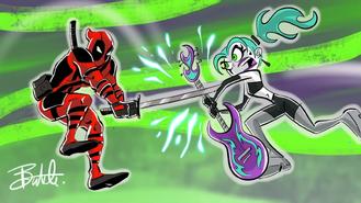 Crossover - Ember vs Deadpool