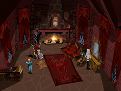 S01e17 Vlad's creepy library