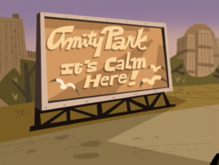 S02e13 Amity Park sign - It's Calm Here