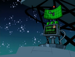 S02e03 ghost shield generator on roof