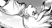 Senku is attacked by Tsukasa