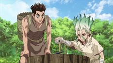 Senku with Taigi