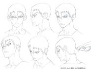 Kinro Head Shading TV Animation Design Sheet
