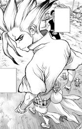 Senku arrives to the village