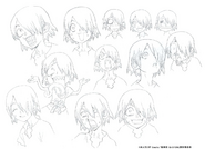 Ginro Head Shading TV Animation Design Sheet