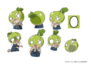 Suika with Melon TV Animation Design Sheet