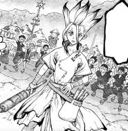 Senku wins the village competition