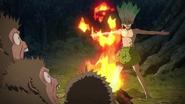 Senku discovers fire