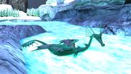 Flutsegler im Wasser