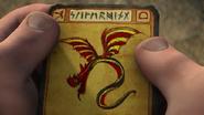 Flügelschlange Fischbeins Karte