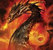 Merlin The Raging Fires Valdearg Illustration by Larry Rostan