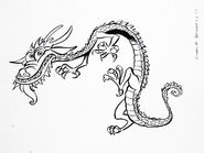 Mulan - Early Concept of Mushu by Hans Bacher