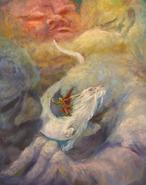 Ateju und Fuchur Illustration von Sebastian Meschenmoser
