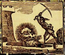 Jack tötet Cormoran - Illustration um 1820