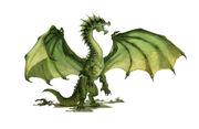 Grüner Drache