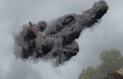 Qualmdrachen im Rauch