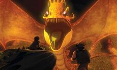 Feuerwurmkönigin im Nest